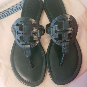 Tory Burch Miller Croc Emboss Sandal
